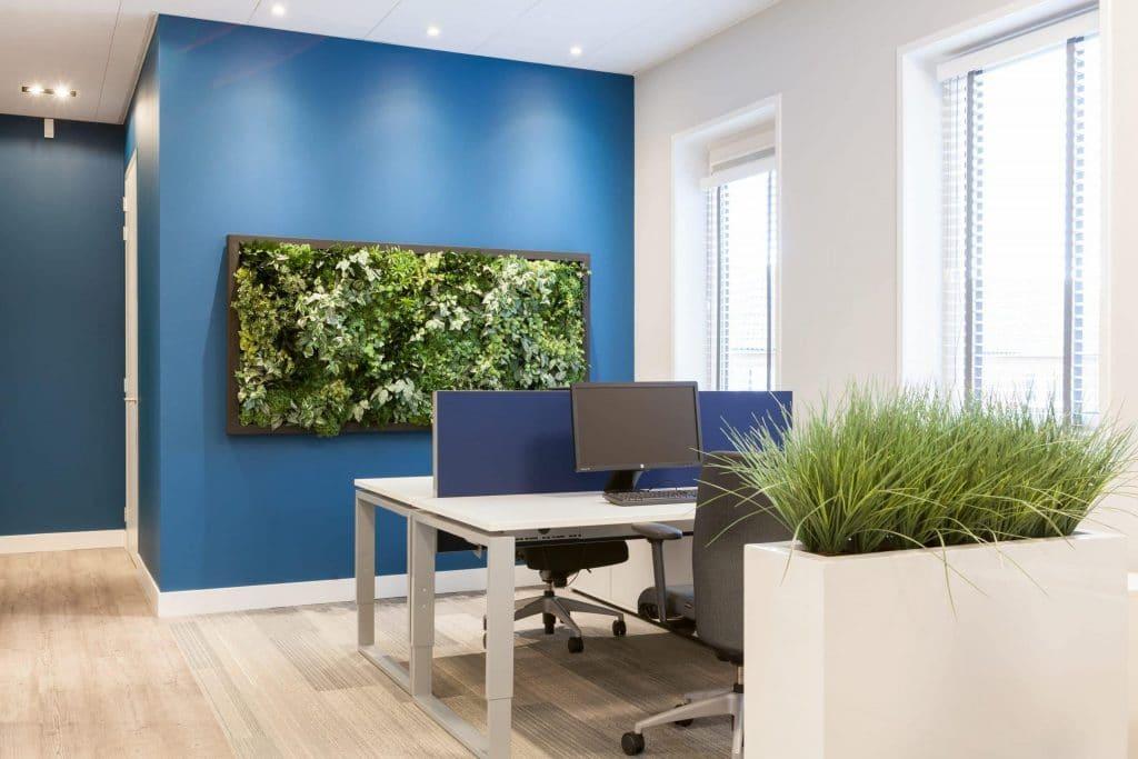 Het effect van kunstgroen op kantoor